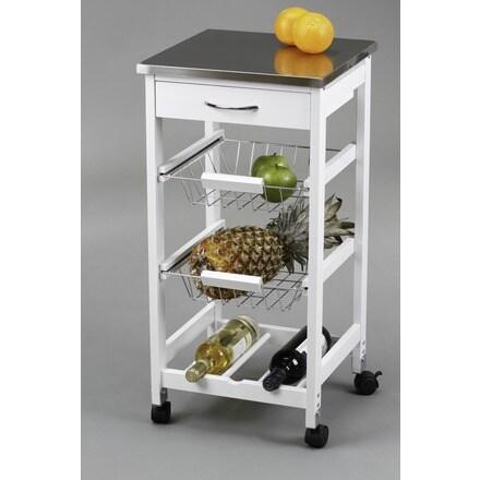 Carro cocina cestas botellero cat logo mueble auxiliar - Muebles auxiliares de cocina conforama ...