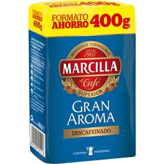 MARCILLA GRAN AROMA café descafeinado para cafetera tradicional paquete 400 g