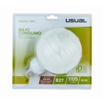 Bombilla bajo consumo globo luz cálida