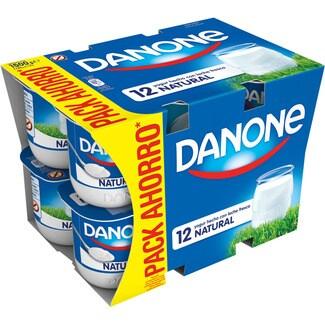 DANONE yogur natural pack 12 unidades 125 g