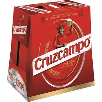 CRUZCAMPO cerveza rubia nacional pack 6 botellas 25 cl