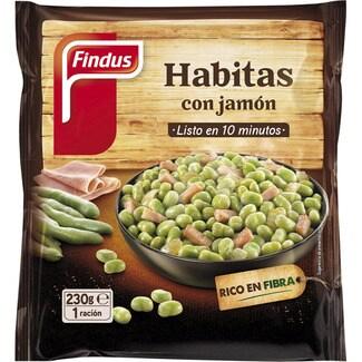 FINDUS tradicionales habitas con jamón bolsa 230 g