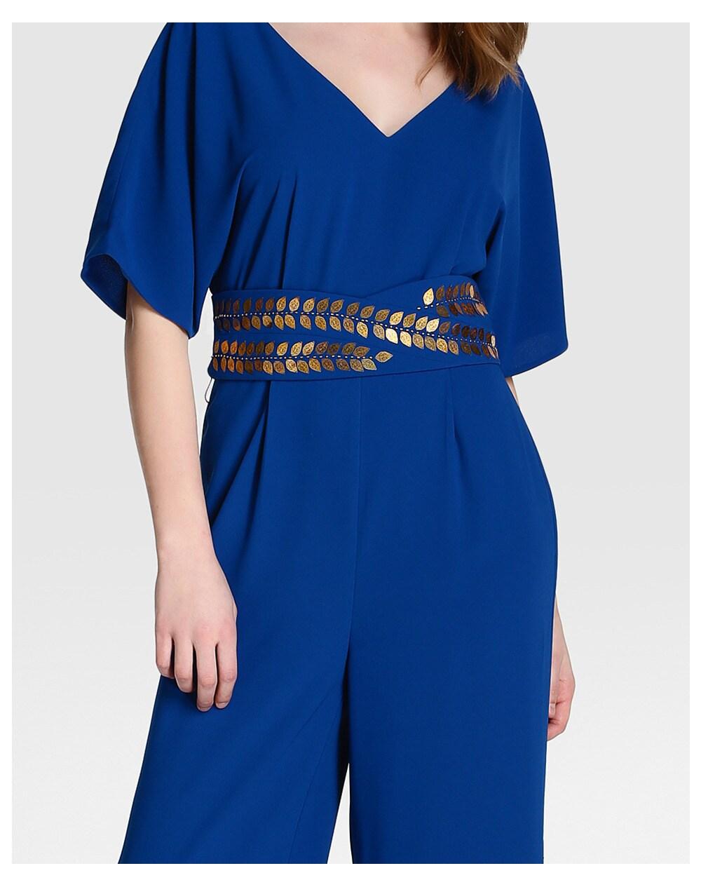 Combinaison de soir e femme tintoretto manches chauve souris avec ceinture ebay - Combinaison de soiree ...