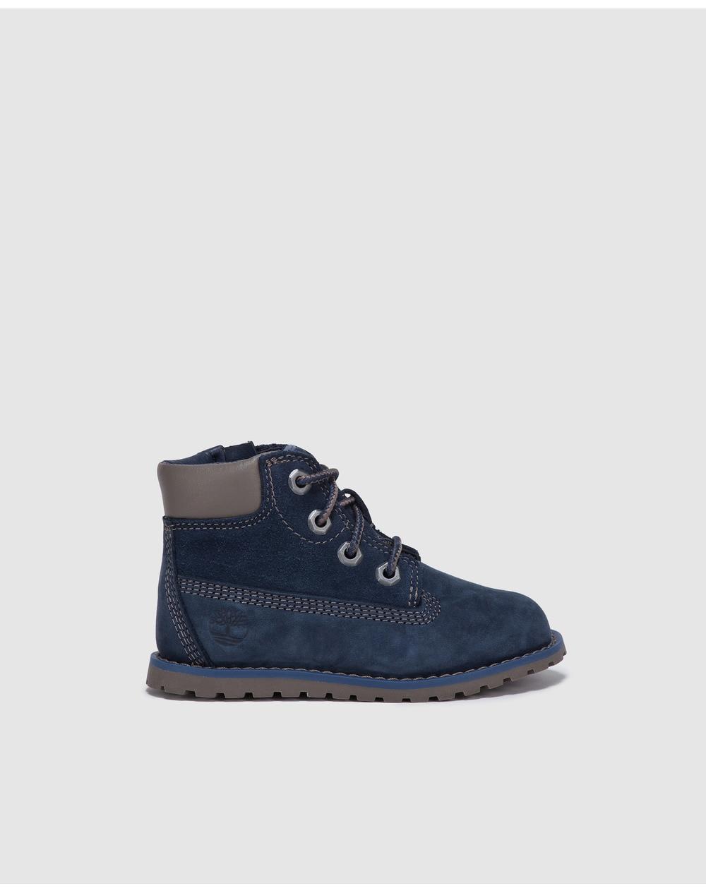 Boots bébé garçon Timberland bleues à double velcro