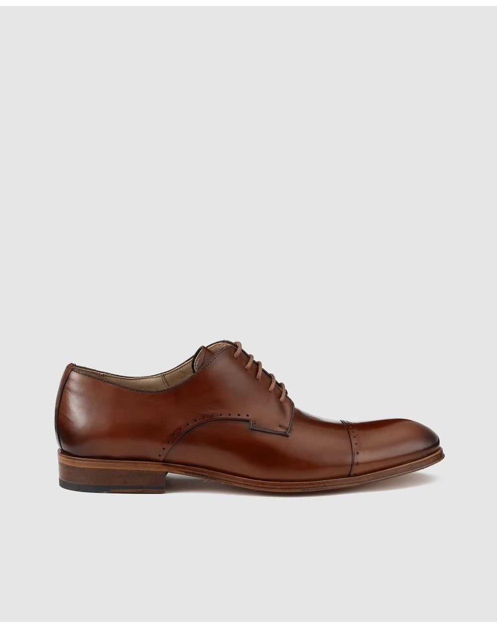 Chaussures-de-ville-homme-Roberto-Ley-en-cuir-bleu