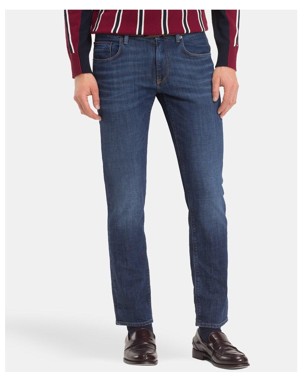 Tommy Hilfiger men's classic-fit blue jeans, Blue. thumbnail
