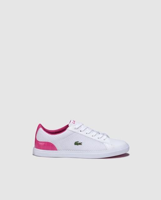 Sapatilhas desportivas de menina Lacoste brancas com a. 06465ce6ca