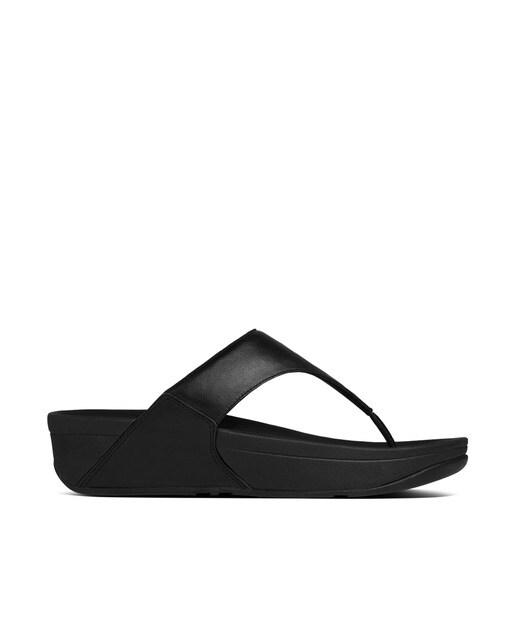 FitFlop Sandalias de cuña de mujer FitFlop clásicas lisas en negro Negro