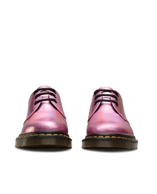 Dr. Martens Zapatos de mujer Dr. Martens de piel en rosa 1461 Im Metallic Lea