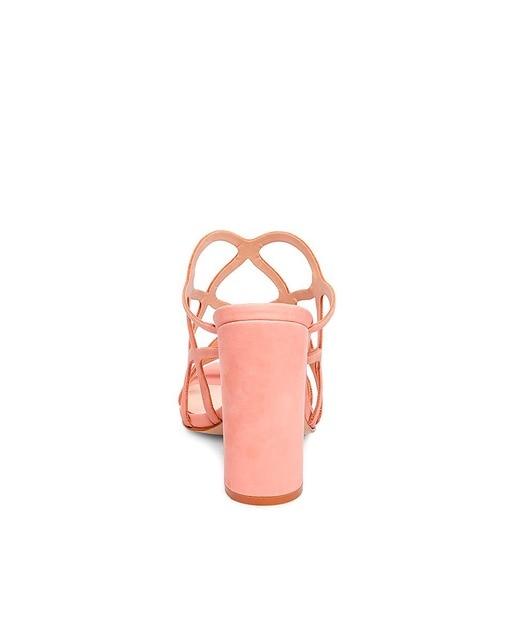 Steve Madden Sandalias de tacón de mujer Steve Madden en nobuck rosa modelo CARLITA