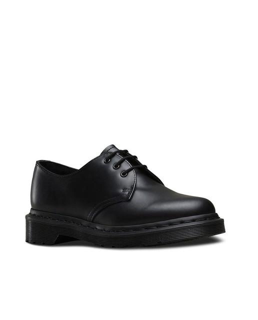 Dr. Martens Zapatos unisex Dr. Martens de piel en negro 1461 3-Eye Mono Sm