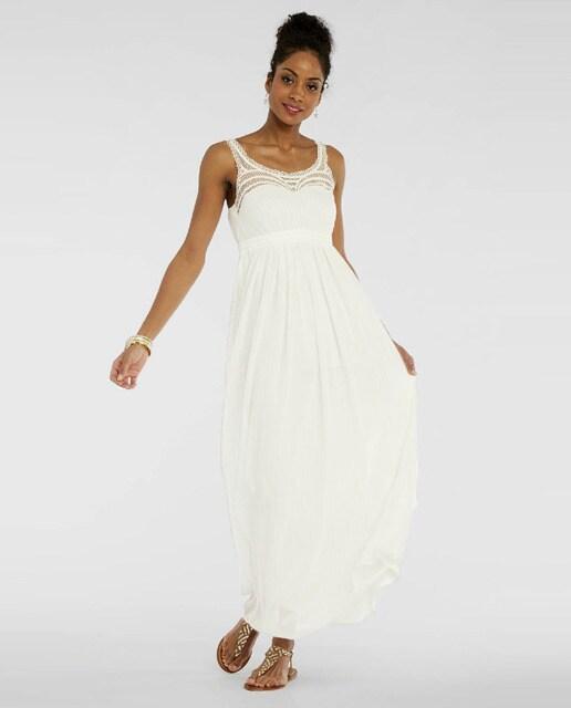 8af1940b7 Vestido de mujer Naf Naf largo con puntillas