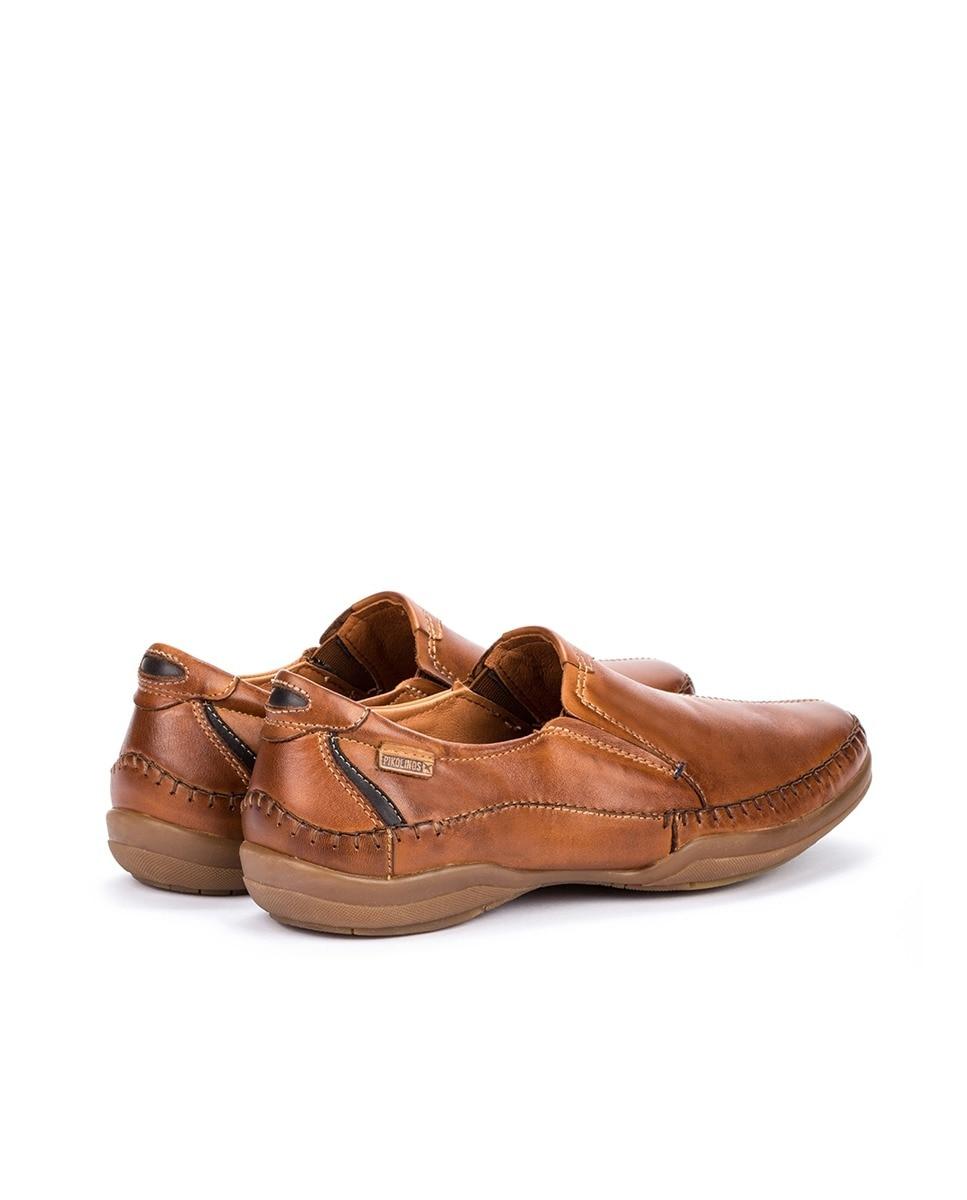 Pikolinos Vestir De Marrón En Zapatos Piel Casual Hombre Estilo Cómodos 35LAj4R