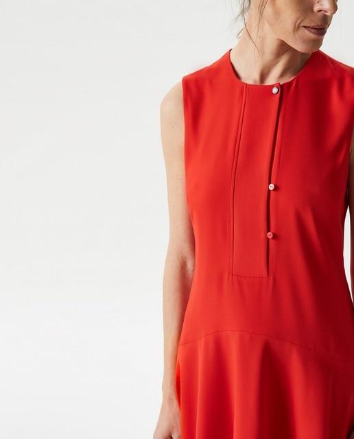 9047d6e4b7 Vestido de mujer Adolfo Domínguez sin mangas en rojo