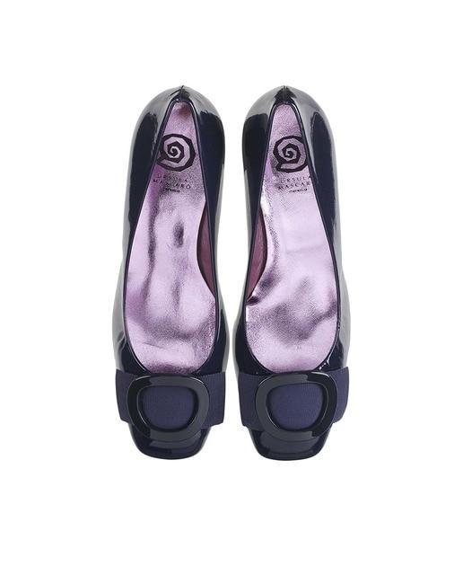 rsula Mascaró Zapatos de salón de mujer Ursula Mascaró en charol azul marino