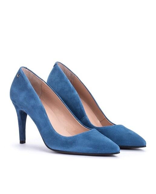 Martinelli Zapatos de salón de mujer Martinelli de piel en azul marino