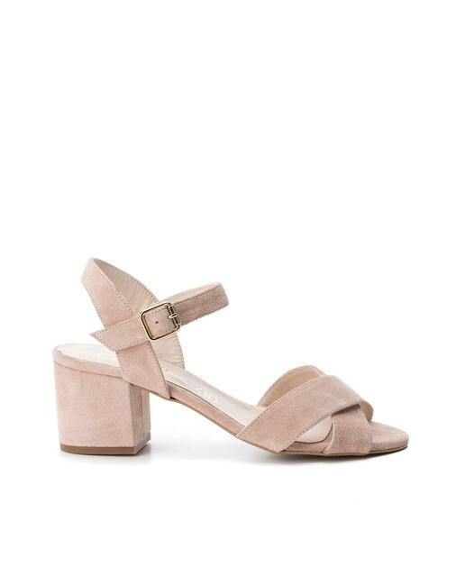 Sandalias de tacón de mujer Carmela de serraje color m... jFIatdS