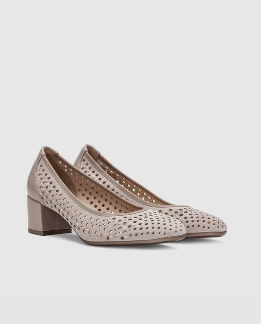 Hispanitas Zapatos de salón de mujer Hispanitas con tacón en color gris