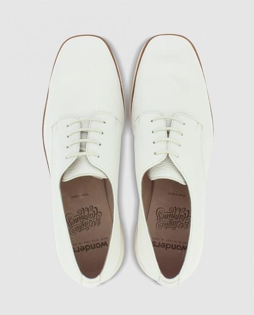 Wonders Zapatos blucher de mujer Wonders de piel blanca