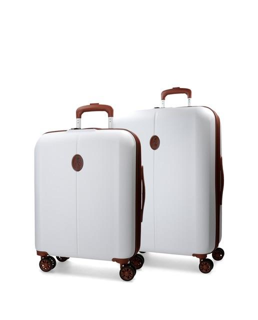 e465b0803 Juego de maletas El Potro Ocuri rígidas blancas con ca.