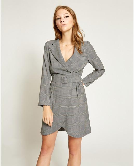 Vestido de mujer Poete estilo blazer con cinturón 957b29889b52