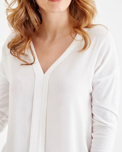 OXXO Blusa de mujer Oxxo de algodón blanco
