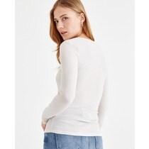 OXXO Camiseta de mujer Oxxo de tela acanalada en color natural