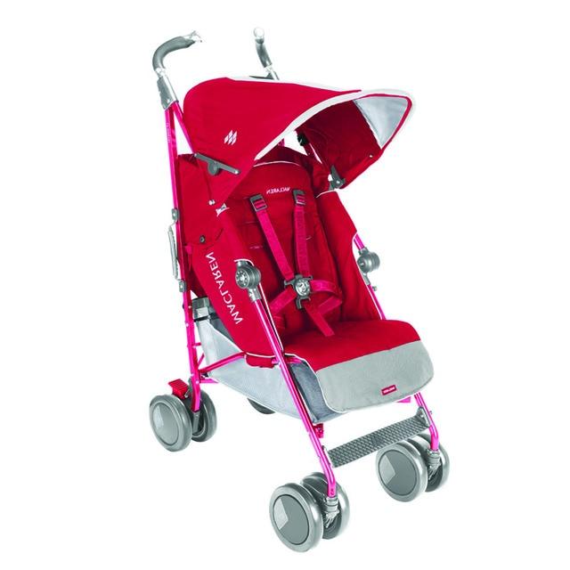 Silla de paseo maclaren techno xt rojo rosa beb s el for Silla ligera maclaren