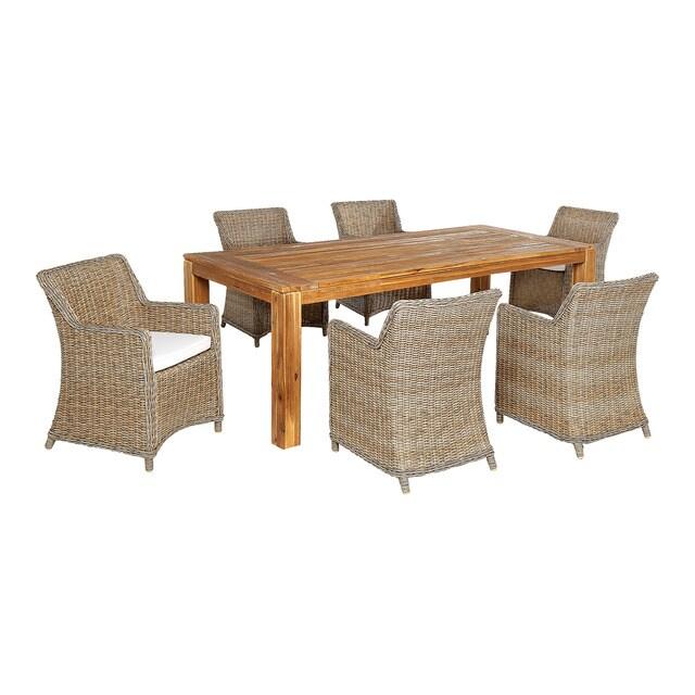 Comedor de exterior 6 sillones ponte y mesa canc n hogar for Sillones mesa comedor