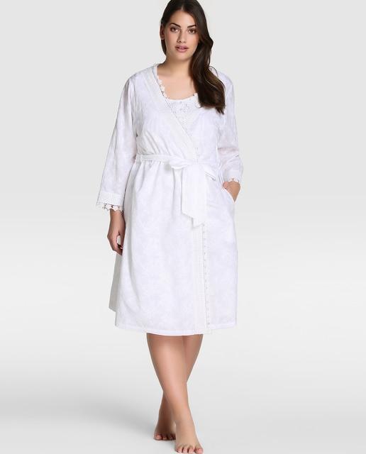 Lazo Plus plus size short nightdress and dressing gown set · Lazo ...