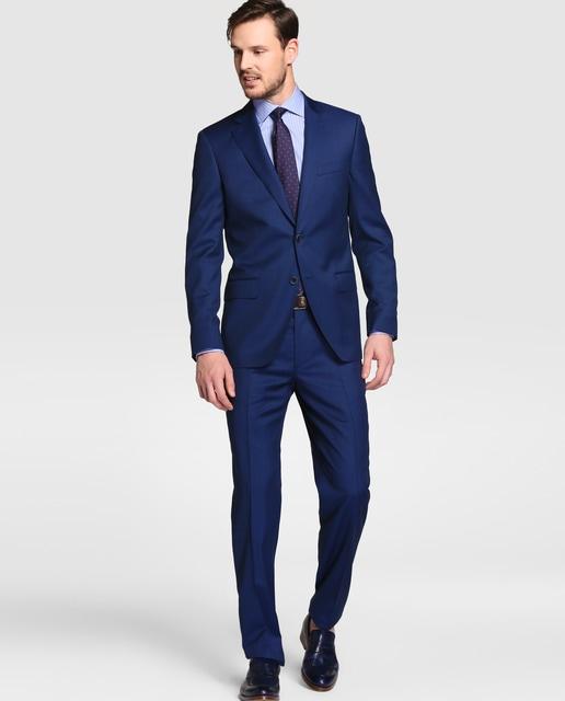 Mirto men's classic blue micro-weave suit · Mirto ...