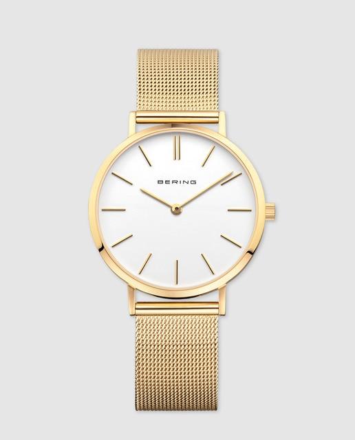 minorista online 0f152 5013e Reloj de mujer Bering de acero dorado