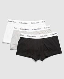 colores delicados nuevas variedades el precio más baratas Pack tres boxers de punto de hombre Calvin Klein varios colores