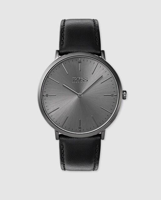 0d5cdc2a3 Reloj de hombre Hugo Boss 1513540 de piel negro · Hugo Boss · Moda ...