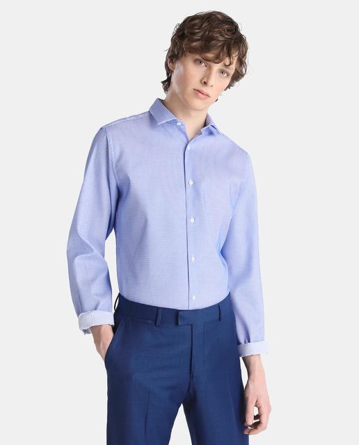 Easy Wear Camisa Fácil Plancha de hombre Easy Wear skinny azul