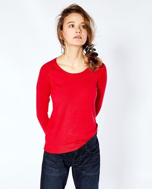 Sfera Jersey básico de mujer Sfera con cuello redondo