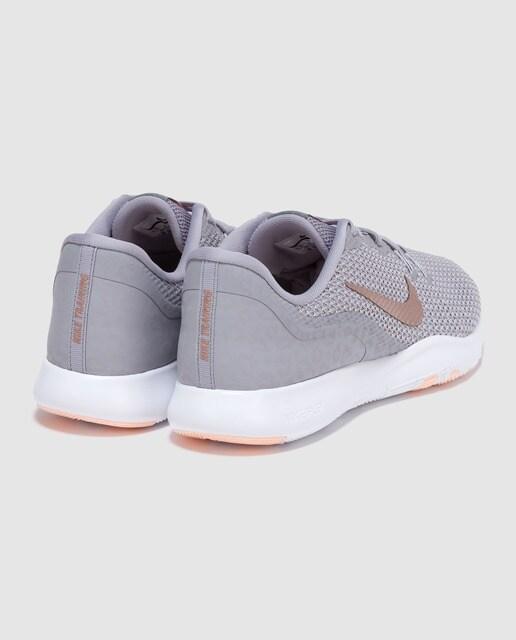 Nike Zapatillas deportivas de mujer Flex Trainer Nike de color gris con logo lateral