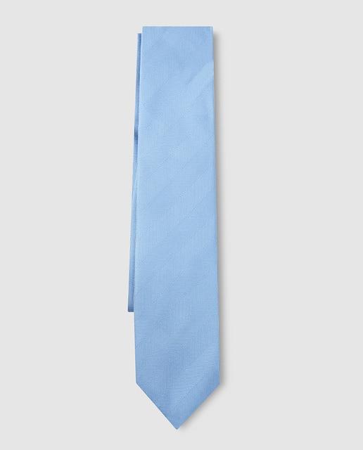 Emidio Tucci Corbata de seda azul