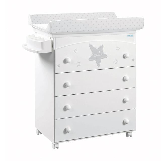 Mueble ba era cambiador micuna estela blanco gris con - Mueble cambiador bebe ...