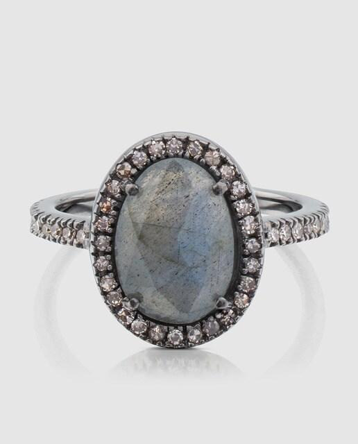 Tous Anillo Dinah de plata, diamantes y gemas Tous