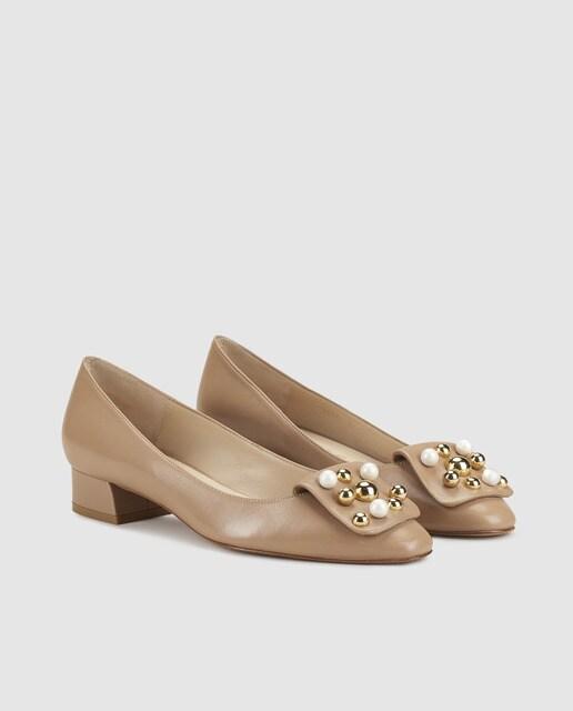 Latouche Zapatos planos de mujer Latouche de piel en color marrón