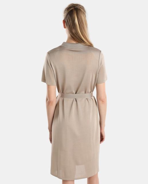 Naulover Vestido camisero de mujer Naulover beige