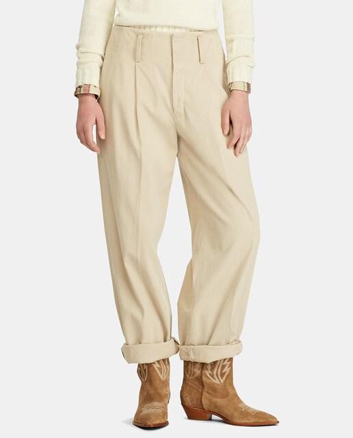 Calças regular de mulher Polo Ralph Lauren com bainha dobrada · Moda ... 341f84a8b0c