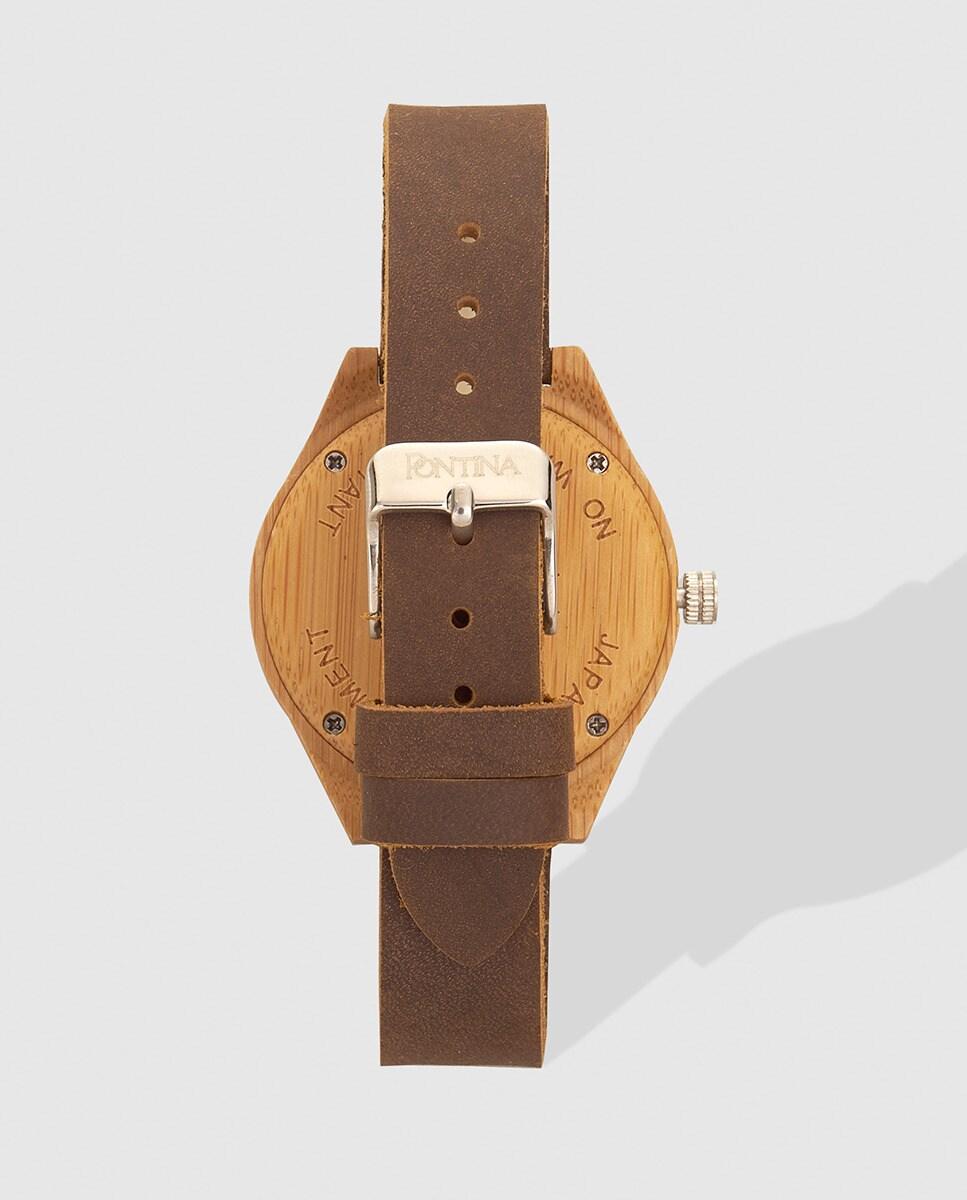 Pontina Marrón De Mujer Piel Reloj erBdCox