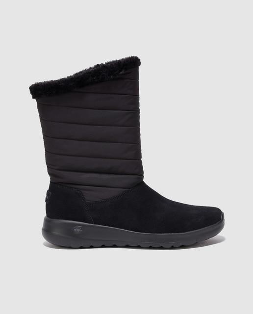 5461c512a31 Botas de mujer Skecher de color negro con caña acolchada · Skechers ...