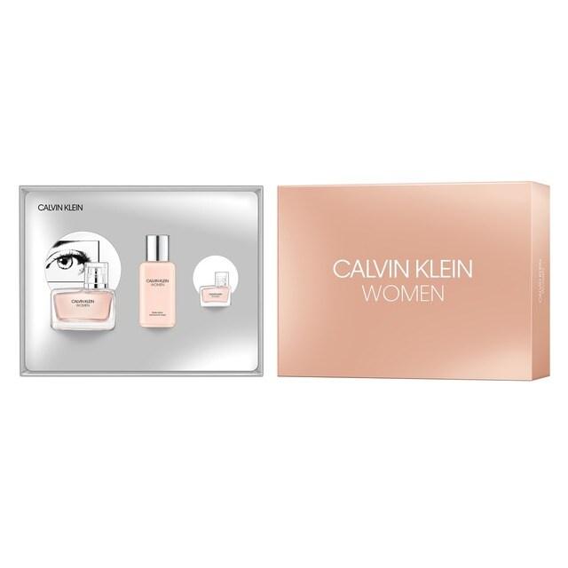 7204a590f64c5 Coffret Ck Women Eau de Parfum 50ml + Eau de Parfum 5ml + Body Lotion 100ml