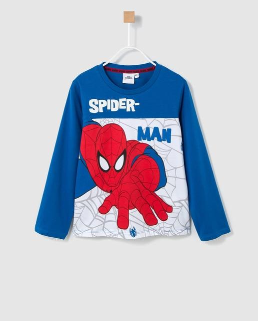 5b106fe89 Camiseta de niño Disney de Spiderman en azul · Disney · Moda · El ...