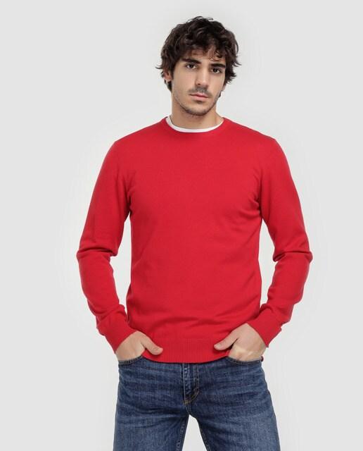 6bf940a7b8936 Jersey de hombre Easy Wear rojo con cuello caja · Easy Wear · Moda ...