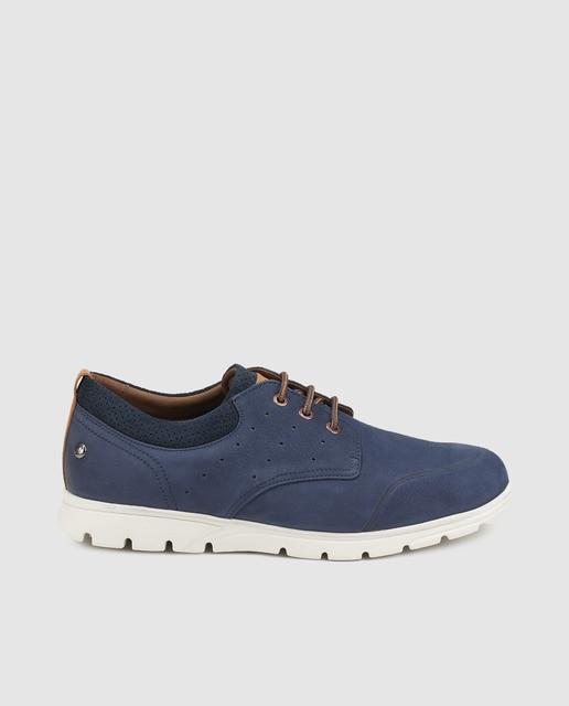 6a34d1091dd Zapatos de cordones de hombre Panama Jack en nobuck de color azul marino