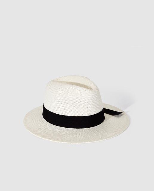 Sombrero panamá de mujer El Corte Inglés de papel blan. 60bb9df259c3
